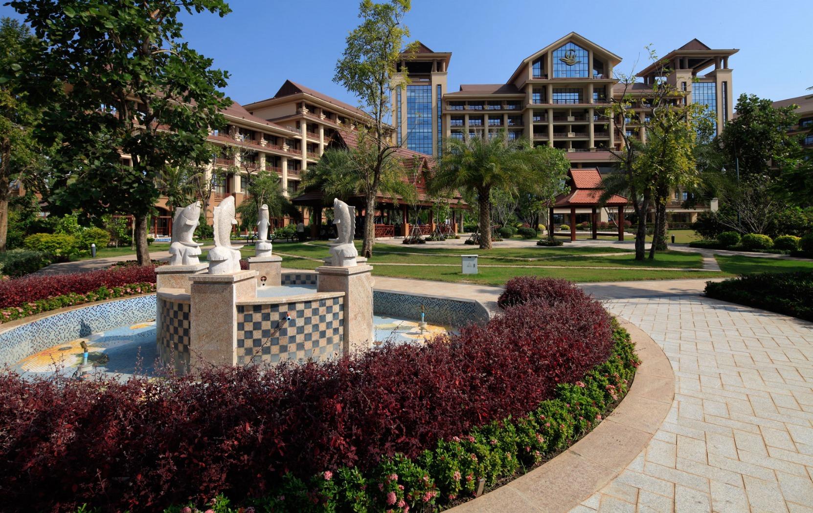 老挝欧亚首脑峰会接待大酒店图片